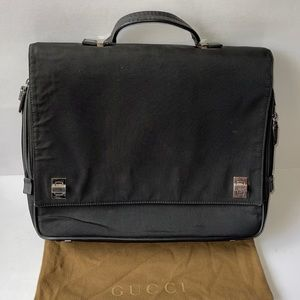 Authentic Gucci laptop briefcase bag travel bag